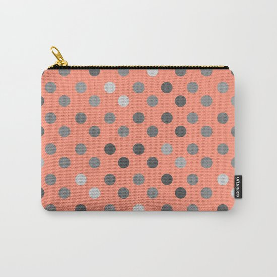 Polka Proton Pink Carry-All Pouch