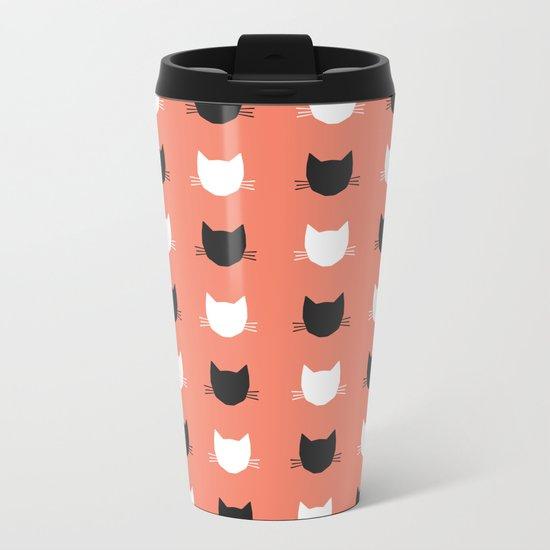 Cat Pattern 02 Metal Travel Mug