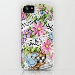 Dreams Wishes And Creativity iPhone Case