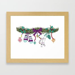 Christmas Garland I Framed Art Print