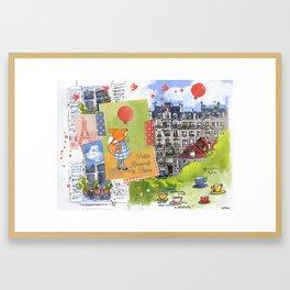 Petite Renarde à Paris Framed Art Print