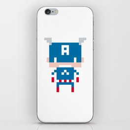 Pixel Captain America iPhone Skin