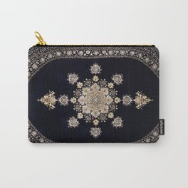 Blacck Traditional Carpet Carry-All Pouch