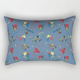 Child's Play Chucky Inspired Pattern Rectangular Pillow