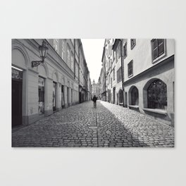 Lane, Prague. Canvas Print