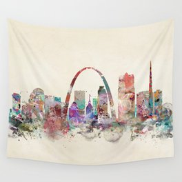 St.louis missouri skyline Wall Tapestry