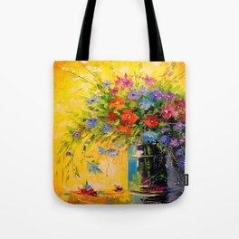 Bouquet of meadow flowers Tote Bag