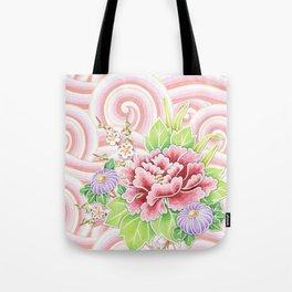 Pink Kimono Bouquet Tote Bag