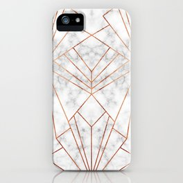 Art Deco Marble & Copper - Large Scale iPhone Case