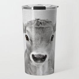 Calf - Black & White Travel Mug