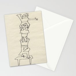 Little Folks Climbing, small people in sketch. by  D. Messenger Stationery Cards