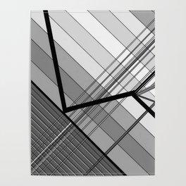 Gray Geometry 2 Poster