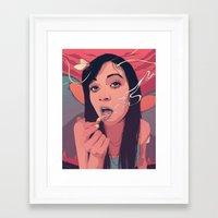 queen Framed Art Prints featuring Moth Queen by Conrado Salinas
