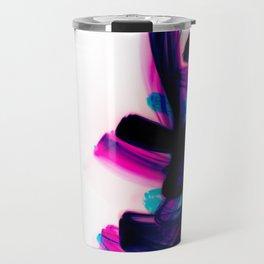 Minimal Futuristic Abstract Calligraphy Travel Mug