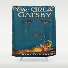 The Great Gatsby vintage book cover - Fitzgerald - muted tones Shower Curtain