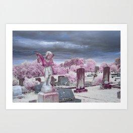 Stormy Cemetery Art Print