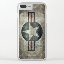 USAF vintage retro roundel #2 Clear iPhone Case