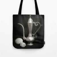 arab Tote Bags featuring Arab Nights by Brian Raggatt