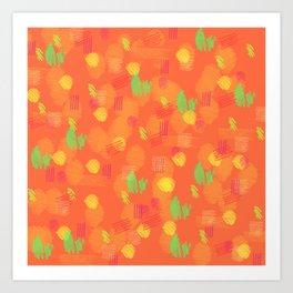 '90 Style Pastel Pattern Art Print