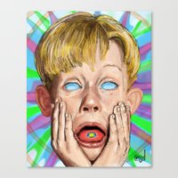 home alone Canvas Prints featuring Home Alone by Maxine du Maine