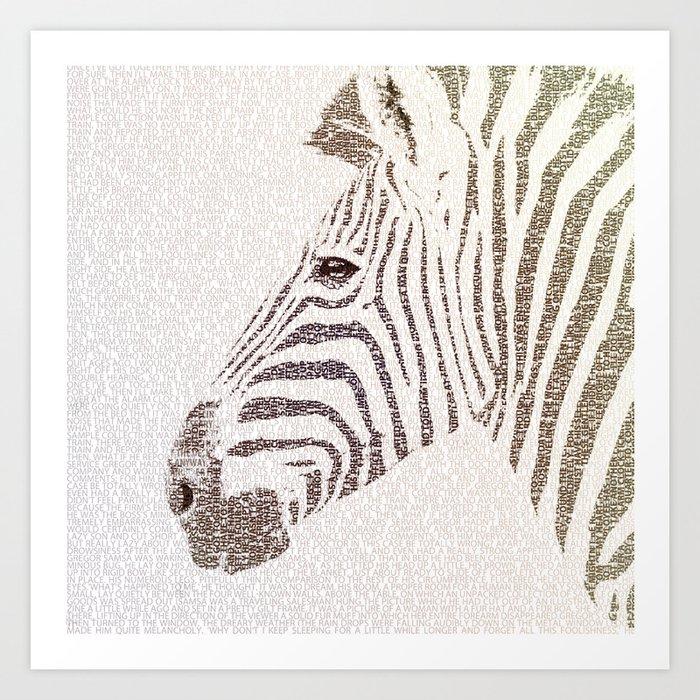 The Intellectual Zebra Art Print