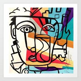 URBAN POP ART - ORIGINAL ART COLORFUL ROBERT R Art Print
