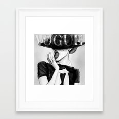 vogue; Framed Art Print