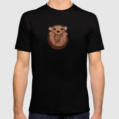 Hedgehog Mens Fitted Tee SMALL Black