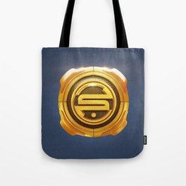 Golden S 3D Emblem Tote Bag