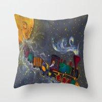 sandman Throw Pillows featuring Mr. Sandman by Traci Maturo Illustrations