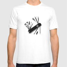 Art Almighty White Mens Fitted Tee X-LARGE