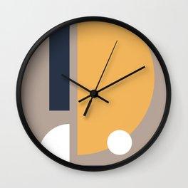 Navy Yellow White Wall Clock