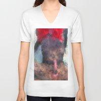 redhead V-neck T-shirts featuring Redhead by TARA SCHLAYER