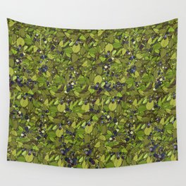 Blueberry Bushes Wall Tapestry