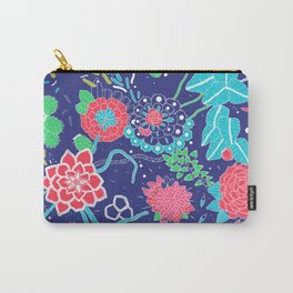 Flowers and Cactus Carry-All Pouch