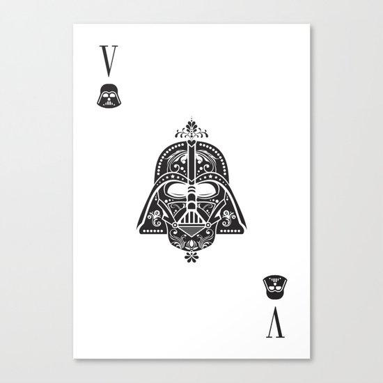 Darth Vader Card Canvas Print