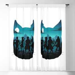 Happy Silhouette Blackout Curtain