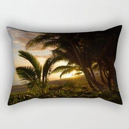 Palm Tree Sunset Rectangular Pillow