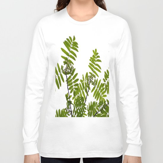 New Green Leaves Of A Rowan  Long Sleeve T-shirt