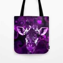 Closeup Purple Tote Bag