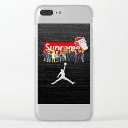 air jordan stranger supreme Clear iPhone Case