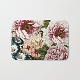 Vintage Peony and Ipomea Pattern - Smelling Dreams on #Society6 Bath Mat