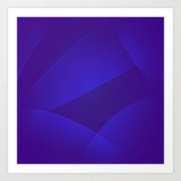 Blue Gem, Daisy Bush & Persian Indigo Colors Art Print