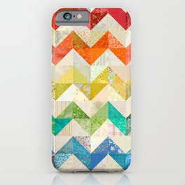 Chevron Rainbow Quilt iPhone Case