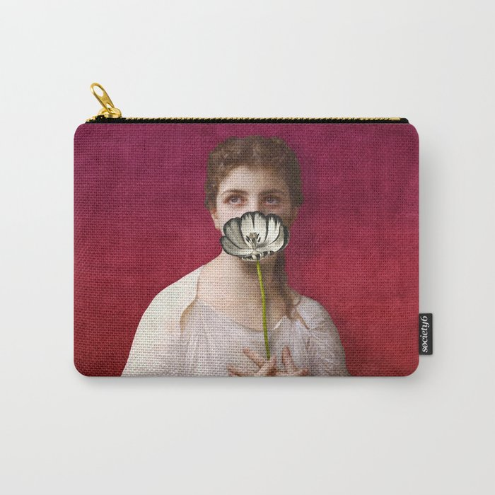 Lady with tulip Carry-All Pouch