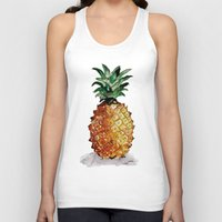 pineapple Tank Tops featuring Pineapple by Bridget Davidson