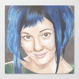 Blue Haired Ramona Canvas Print
