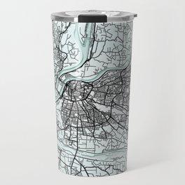 Avignon, France, White, City, Map Travel Mug
