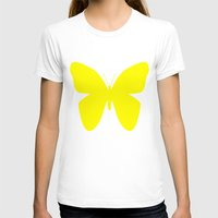 butterfly T-shirts featuring Butterfly by Naked N Pieces