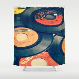 Take those old records off the shelf Shower Curtain